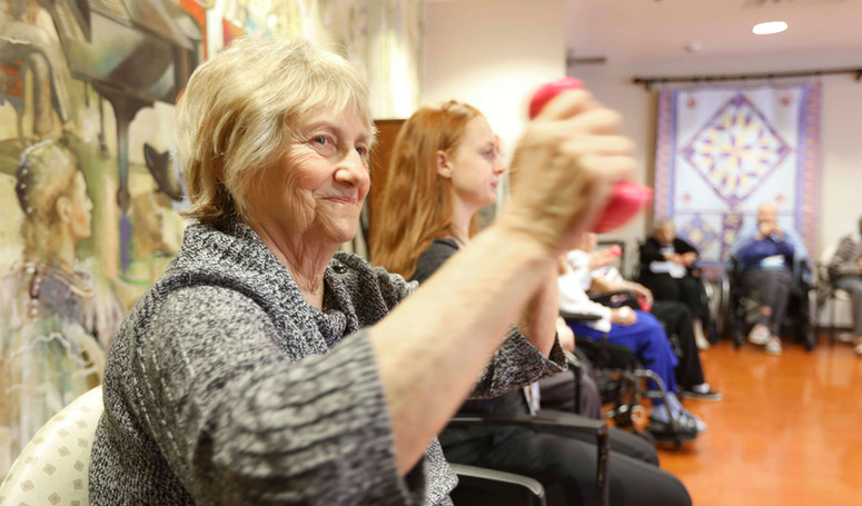 henley house assited living group exercise