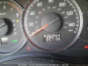 2008 Subaru Outback Mileage