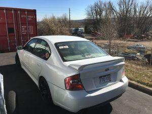2005 Legacy GT left rear