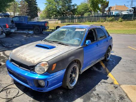 2002 Subaru WRX wagon 155K Blue A/T