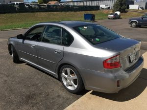 2009 Legacy left rear
