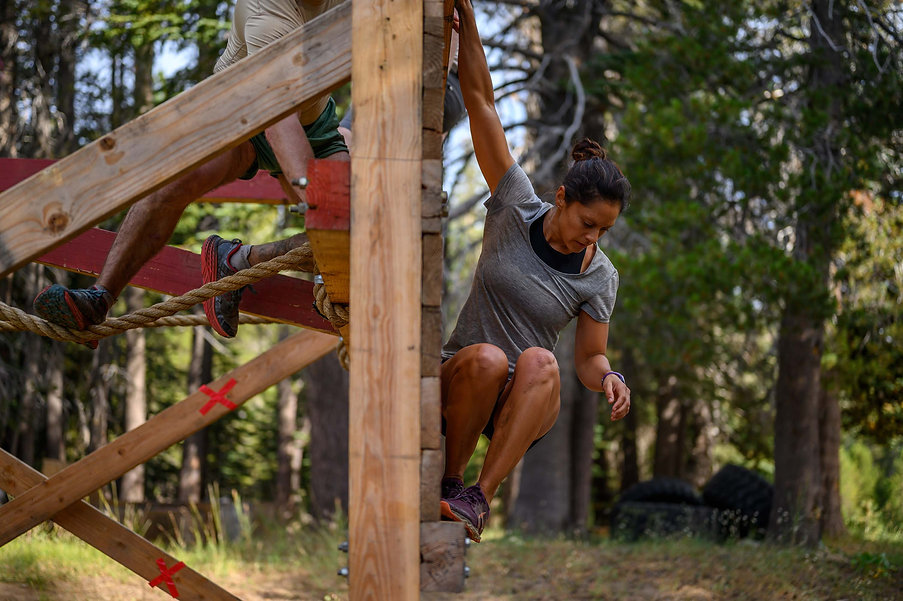 jaala shaw completing obstacle course