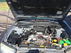 2007 Subaru forester engine bay