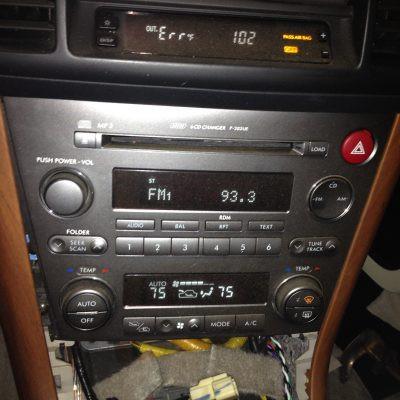 2005 Legacy GT Wagon radio