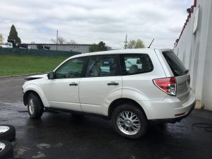 2009 Forester left rear