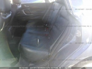 2005 Subaru Legacy GT Wagon rear seats