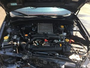 2009 WRX engine bay