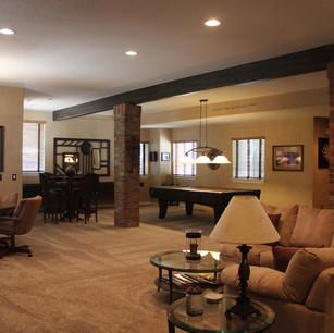 home living room basement remodel