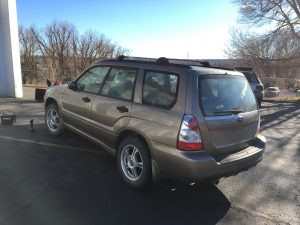 2008 forester left rear