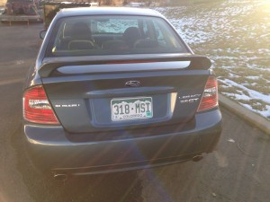2005 Subaru Legacy GT Rear