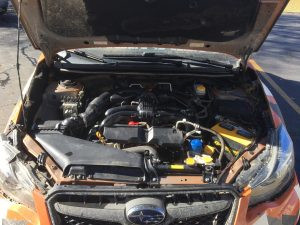 2015 crosstrek engine bay
