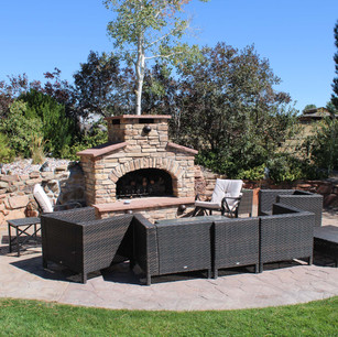 custom home patio