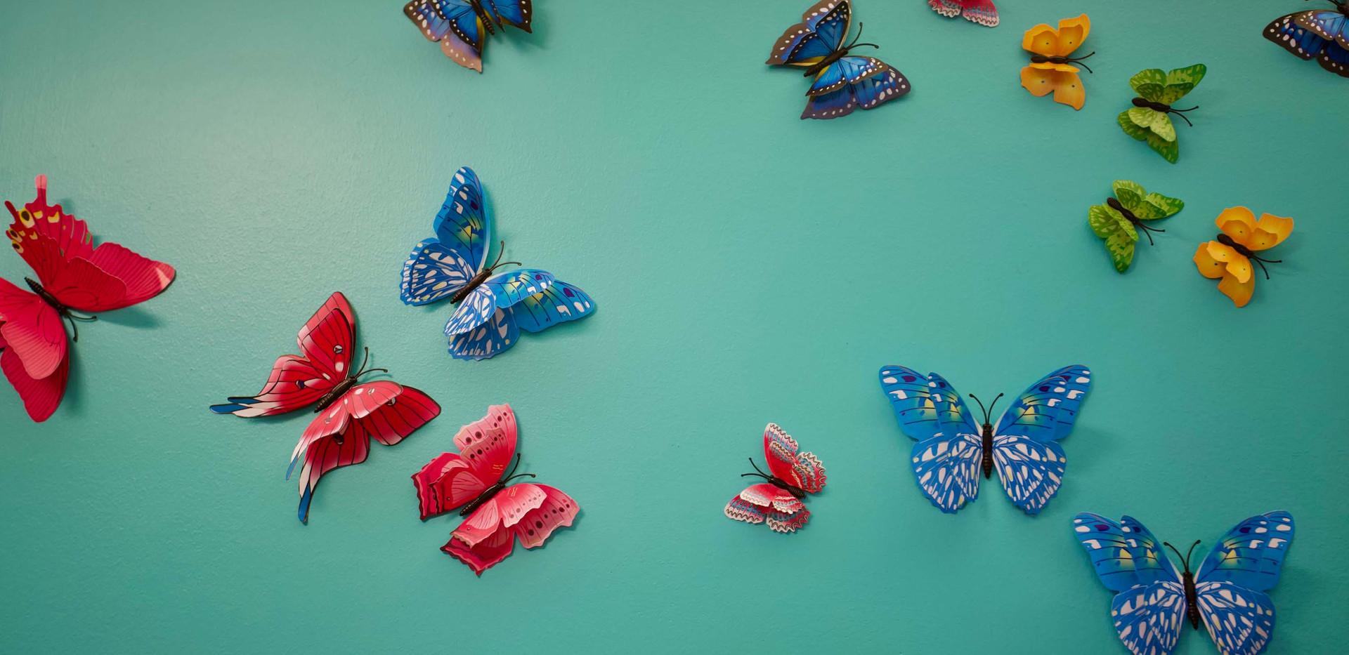 henley place butterfly model butterfly wall