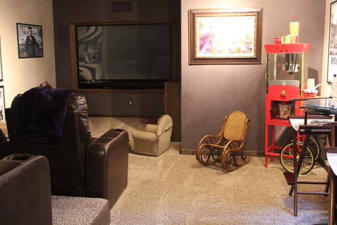 custom basement home theater