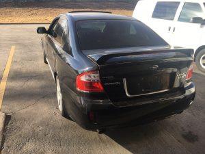 2009 legacy GT left rear