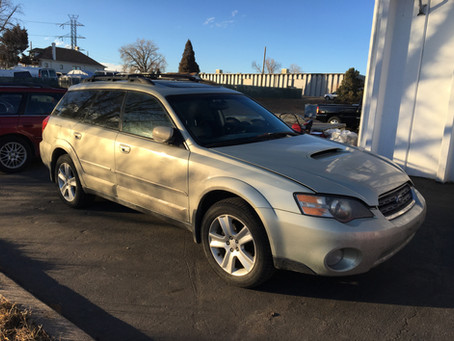 2005 Subaru Outback XT automatic 5EAT 168k gold complete PART OUT