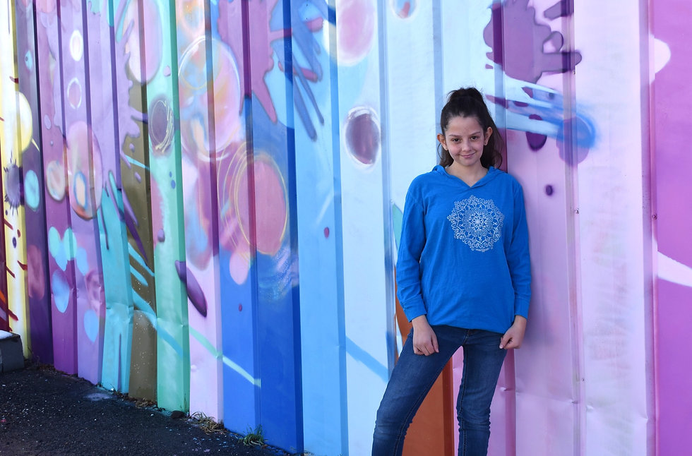 girl wearing bravehoods hoodie