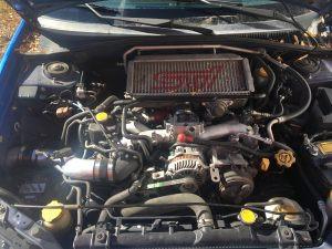 2007 WRX wagon engine bay