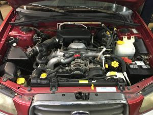2005 Subaru forester engine bay