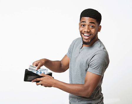 man holding cash, HarJoe Money Center, check cashing, check cashing place near me, check cashing new york
