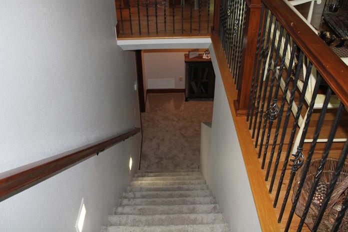 basement stairwell remodel