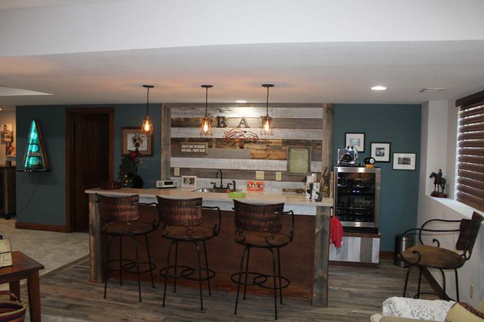 custom basement bar