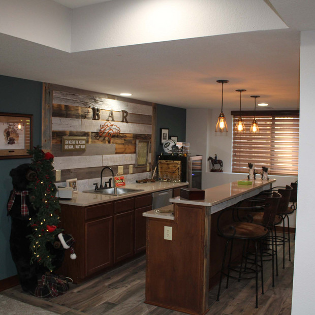 custom basement kitchen