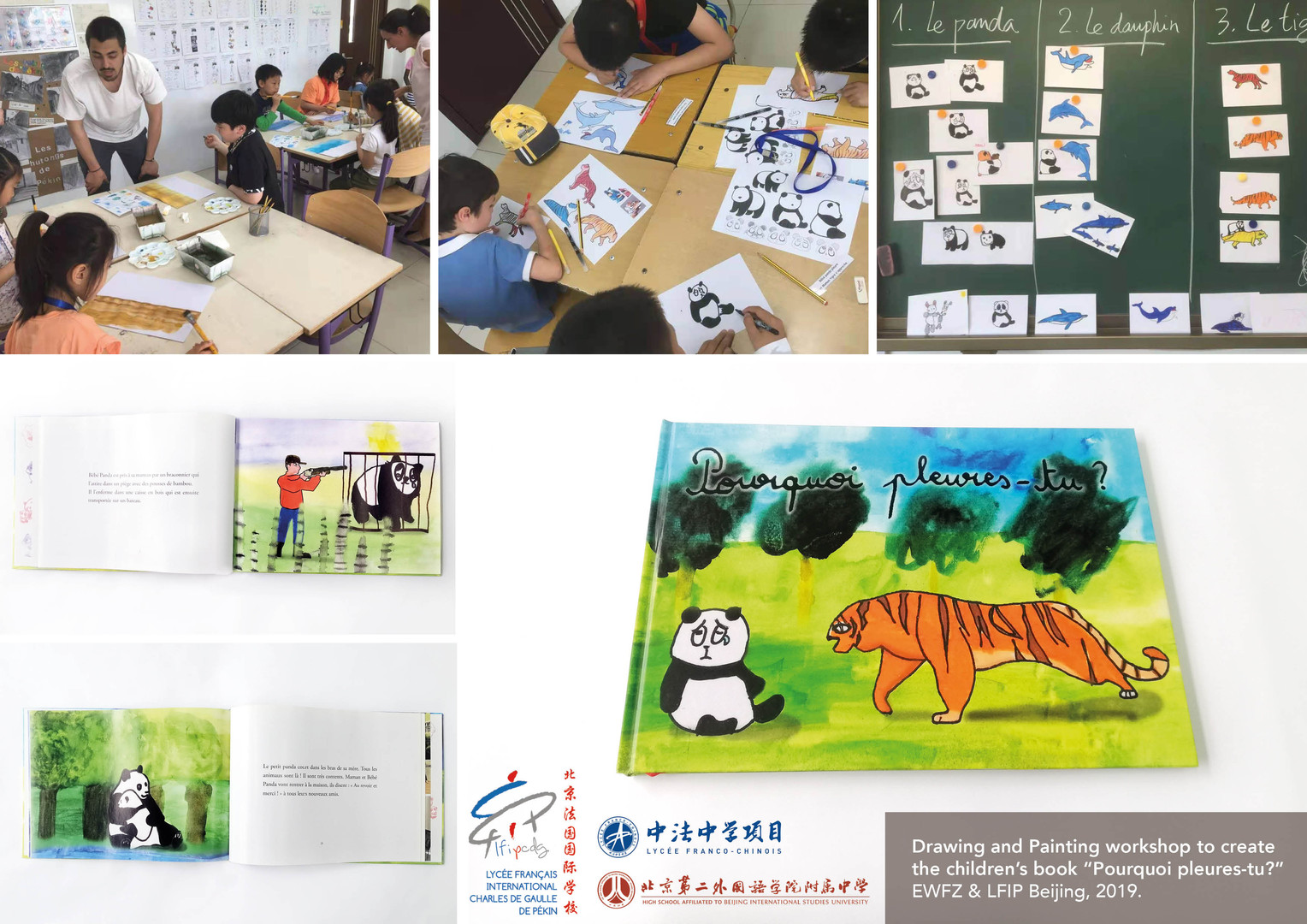 "Drawing and Painting workshop to create the children's book ""Pourquoi pleures-tu?"""