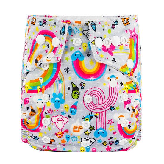 Babyland yhdenkoon taskuvaippa- Rainbow Fun