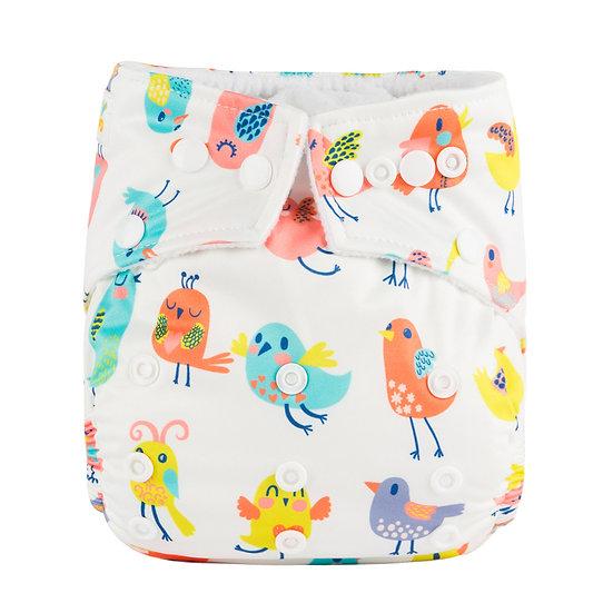 Babyland yhdenkoon taskuvaippa- Bird Parade