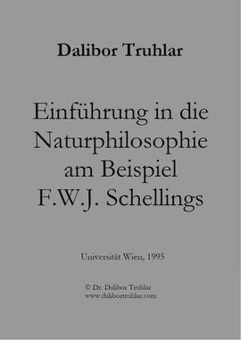 Einführung in die Naturphilosophie am Beispiel F. W. J. Schellings