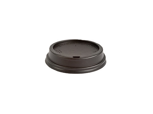 Black PS Sipper Dome Lid for 12oz Cups