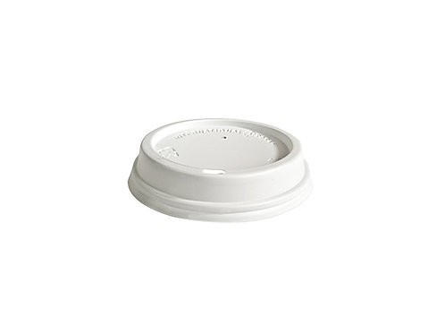 White PS Sipper Dome Lid for 12oz
