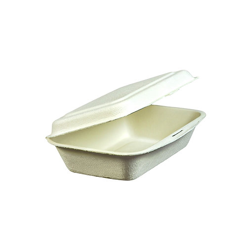 """6""""x4"""" Bagasse Clamshell Case of 500"""