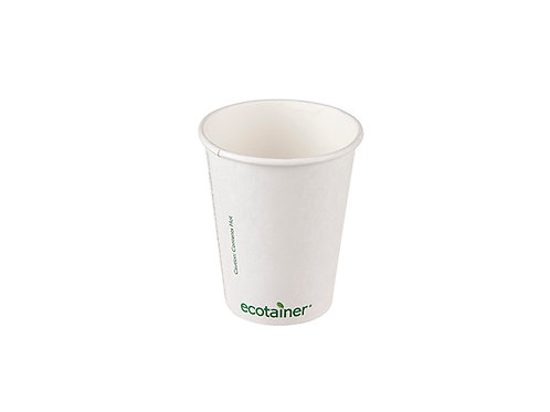 8oz compostable paper cup ecotainer print