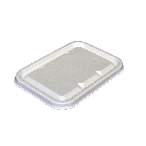 Bagasse Lid for Rectangular Trays 550/650/750ml