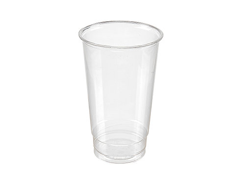 Clear 24oz PLA cold drink cup compostable large