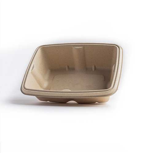 Leakproof Bagasse Rectangular Container 1000ml