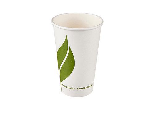 16oz compostable paper cup