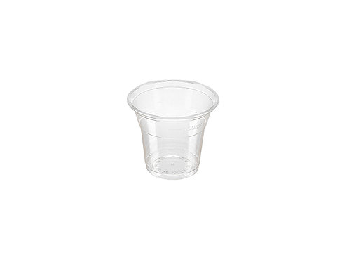 Clear 5oz PLA cold drink cup compostable