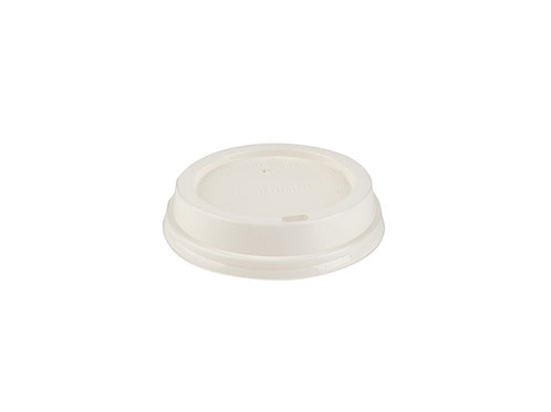 White PLA Sipper Dome Lid for 10oz and 12oz Cup