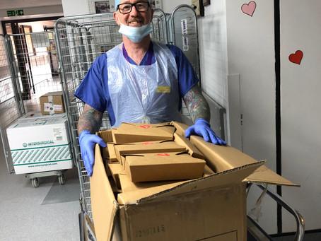 Pamper boxes for hospital staff