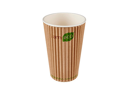 I am Eco 16oz Ripple Cup
