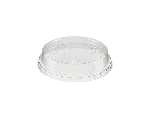 flat lid without hole of straw slot for 76mm diameter small PLA compostable cold drink cups