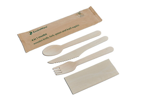 4 in 1 Wooden Meal kit