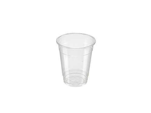 Clear 8oz PLA cold drink cup compostable