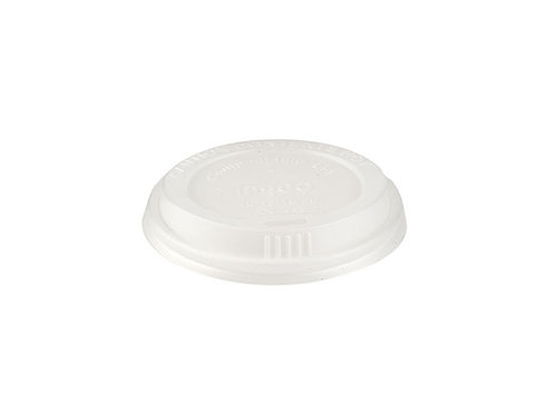 White CPLA Domed Lid to fit 12 & 16oz