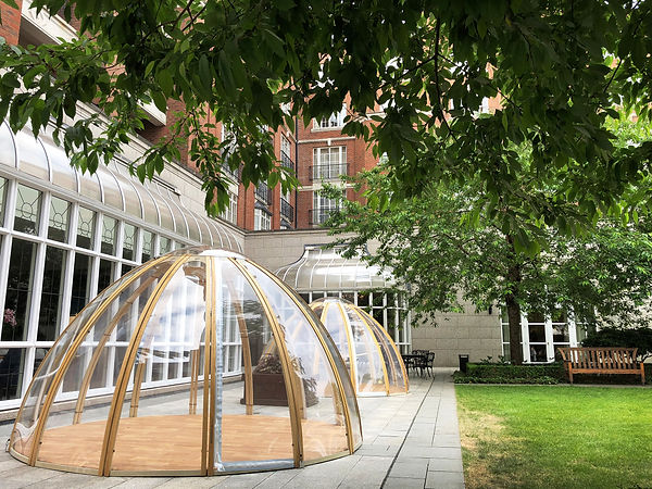Dining Domes Garden Cocoons Igloo Creae Structures