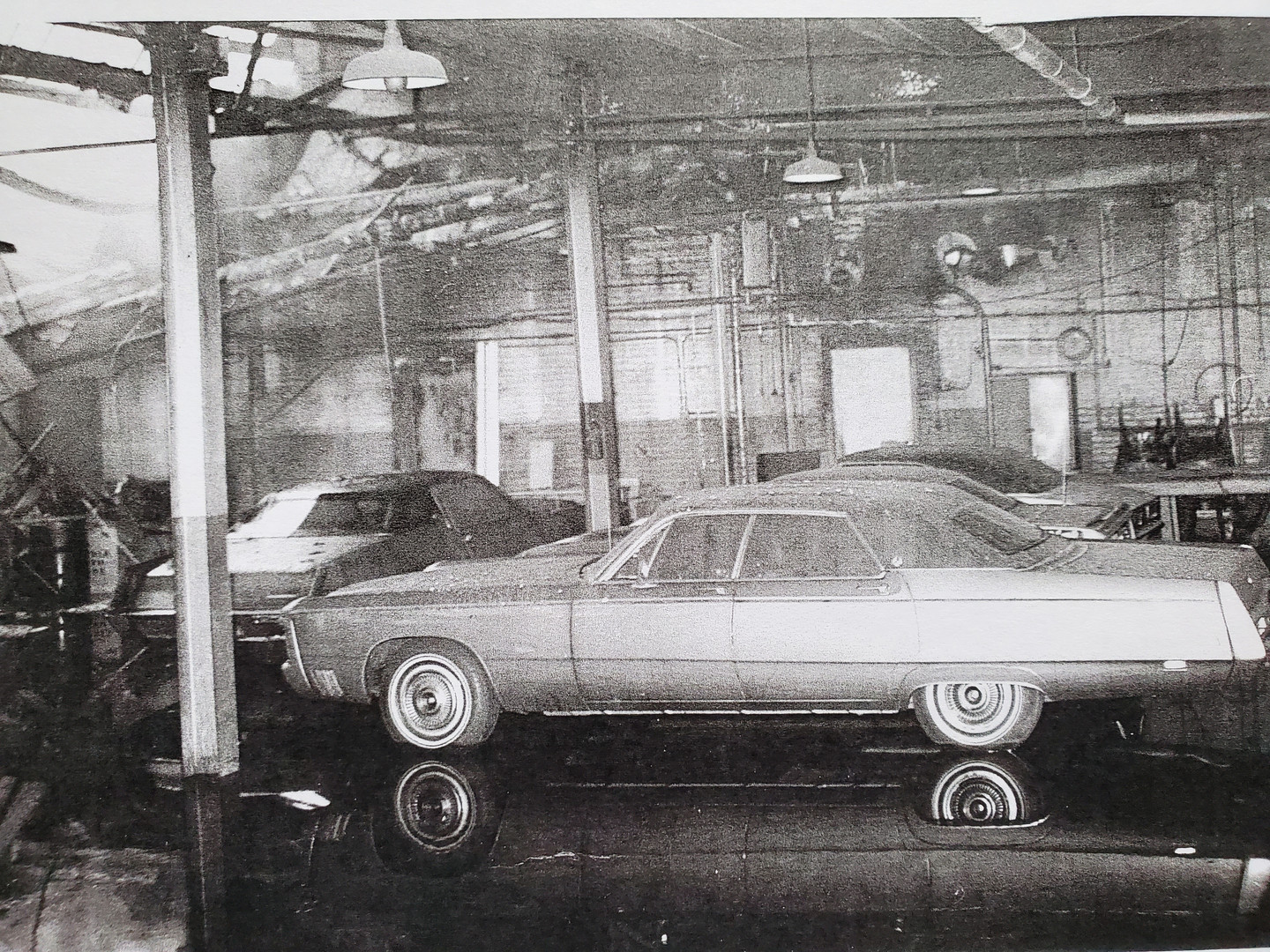 2 Vintage Photo Corporate Garage Collaps