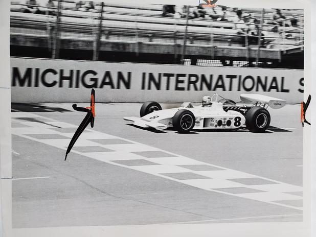 Bobby Unser 1973 Michigan 200 USAC Natio